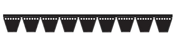 3v560 09 Classic Wedge Banded 3v V Belts 9 3v560 9