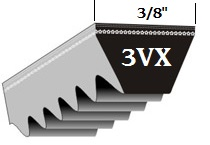 Classic Cogged Wedge 3VX V-Belts