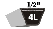 Fractional 4L V-Belts